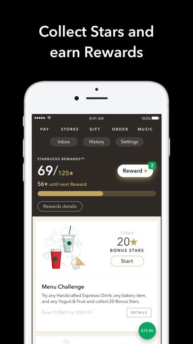 Starbucks Screenshot 1