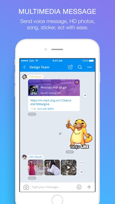 Screenshots of Zalo for iPhone