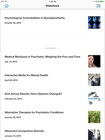 Psychiatry Advisor screenshot 1