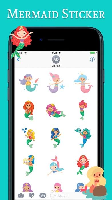 Cute Mermaid Stickers Pack review screenshots