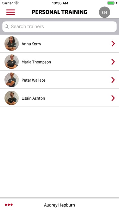 Screenshot of Fitness First Middle East App