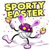 Kayann Legg - Easter Volleyball Stickers  artwork