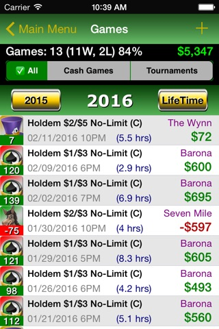 Poker Track Lite – Live Stats and Bankroll Tracker screenshot 3