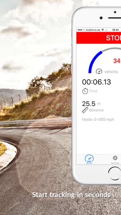 SpeedBox Performance Tracking Screenshots