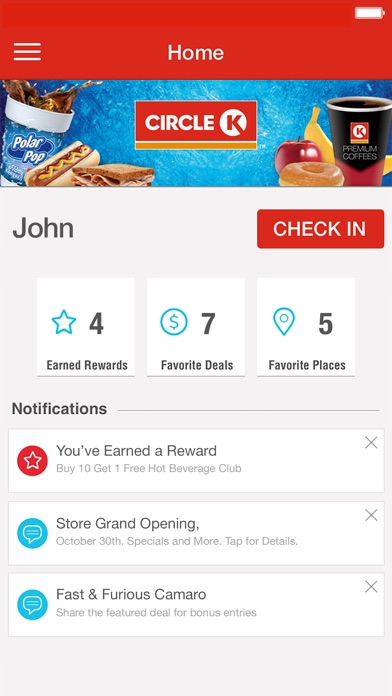 circle k rewards app screenshots - Www Circlek Com Rewards Card Registration