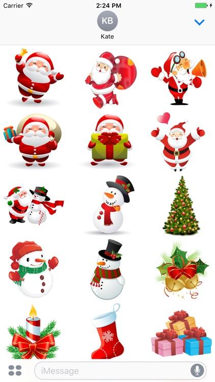 happy merry christmas stickers