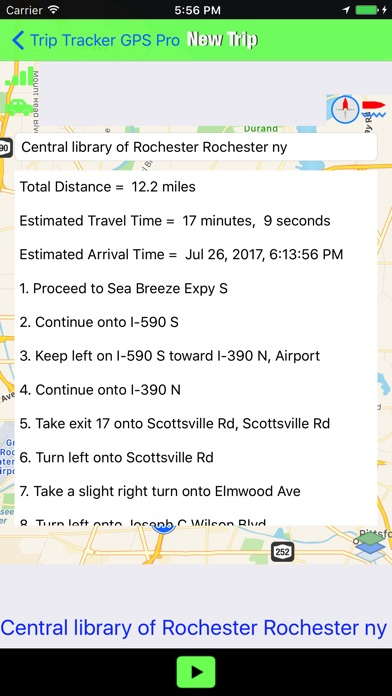 Trip Tracker GPS Professional Screenshots