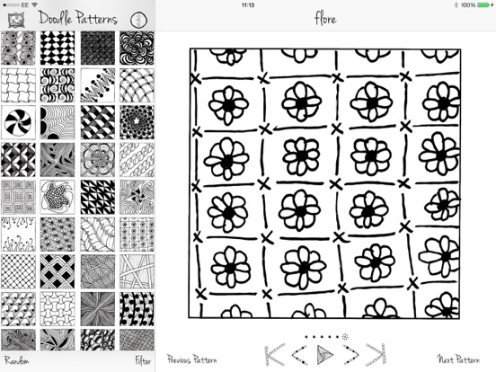 doodle patterns on the app store