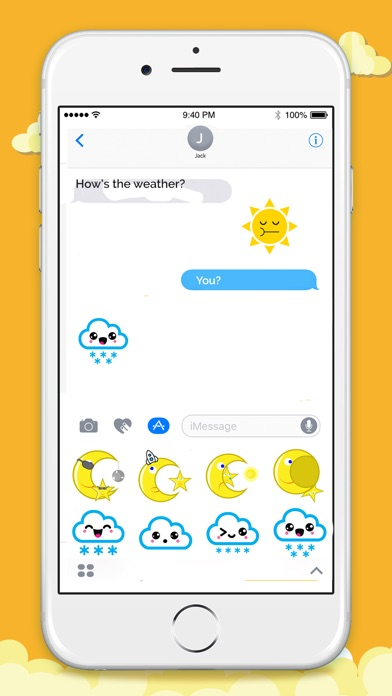 Animated Weather Stickers! screenshot 4
