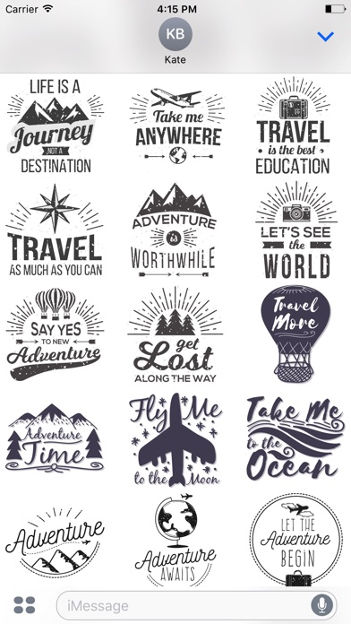Screenshot of Let's go Travel - Sticker Pack for iMessage4