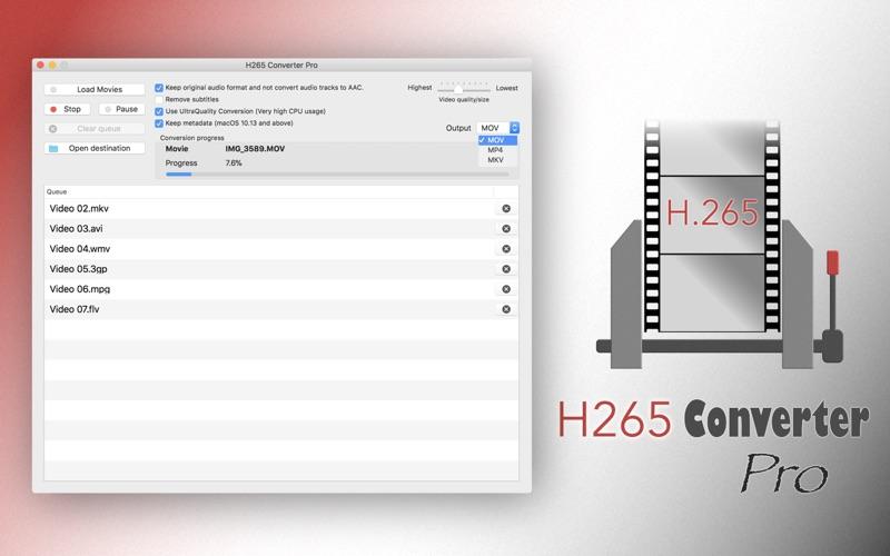 H265 Converter Pro - HEVC Tool Screenshots