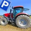 Farm Traktor Parkplatz Schule