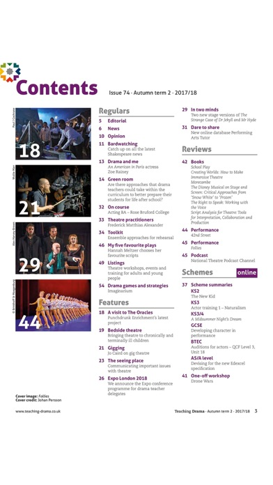 Teaching Drama Magazine review screenshots