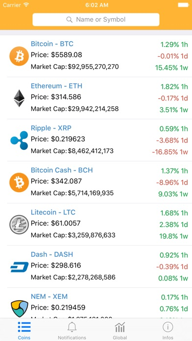 Coins Statistics screenshot 1
