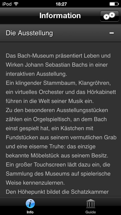 Bach-Museum Leipzig Multimediaguide Screenshot