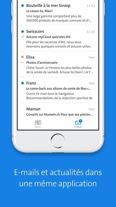 Bluewin E-Mail & NewsCapture d'écran de 2
