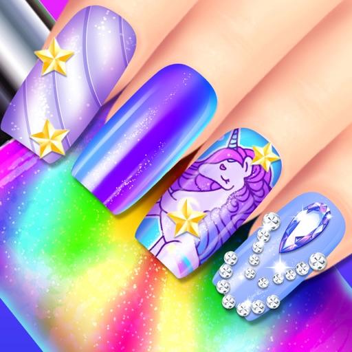 Rainbow Unicorn Nail Salon iOS App