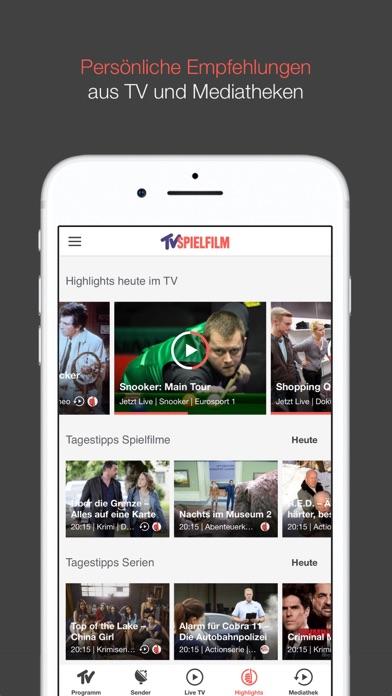 tv spielfilm tv programm app report on mobile action. Black Bedroom Furniture Sets. Home Design Ideas