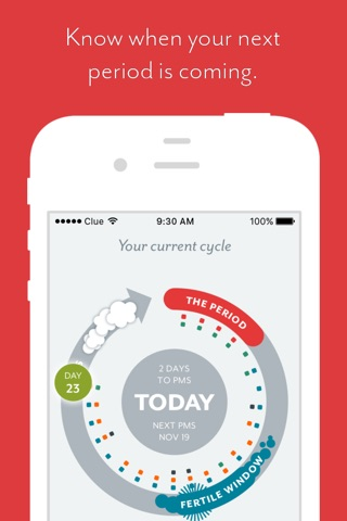 Clue - Period & Health Tracker screenshot 1