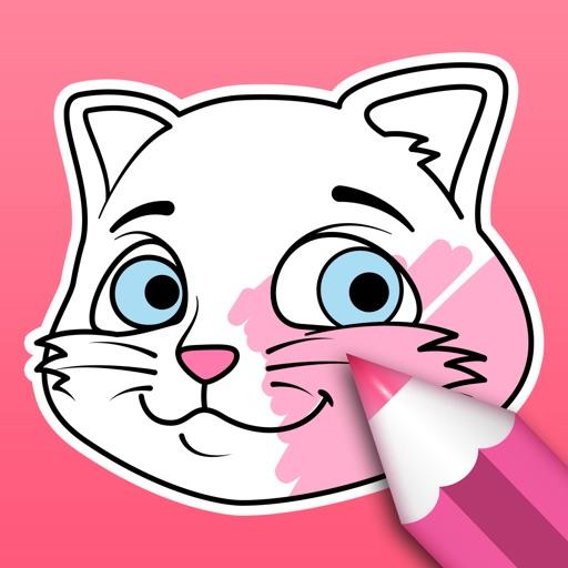 Gato para Colorear Por PEAKSEL doo