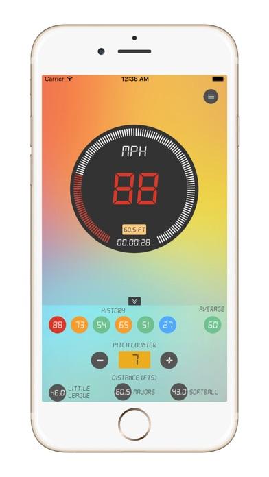 Baseball Pitch Speed Radar Gun Screenshots