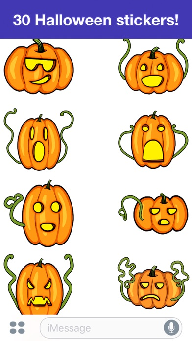 Pumpkins - Halloween stickers on the App Store