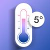屋外温度計-室内温度&体温感知温度