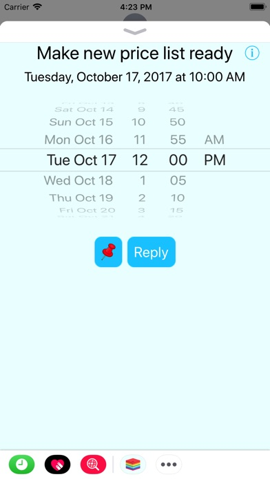 iMessage App Reminder4U released for the iPhone and iPad Image