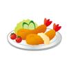 kazuya fujinami - Fried food sticker  artwork