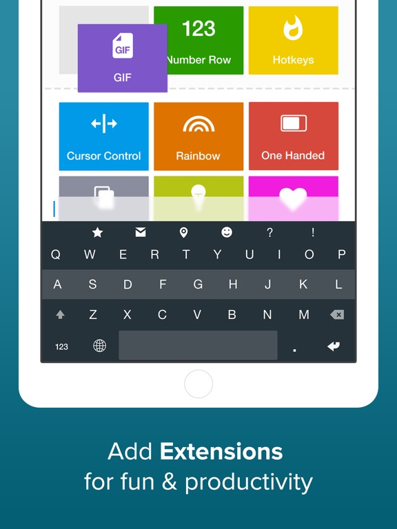 Fleksy + GIF Keyboard Screenshots