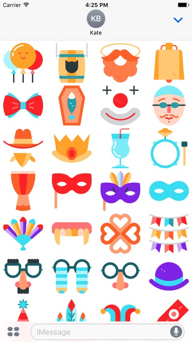 Carnival Emoji Stickers screenshot 2