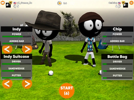 Screenshot 5 Stickman Cross Golf Battle