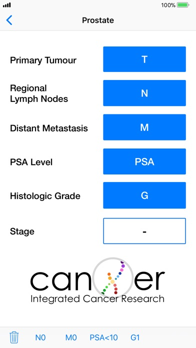 Cancer Staging Calculator TNM8 Screenshots