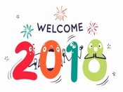 Happy New Year 2018 Stickers