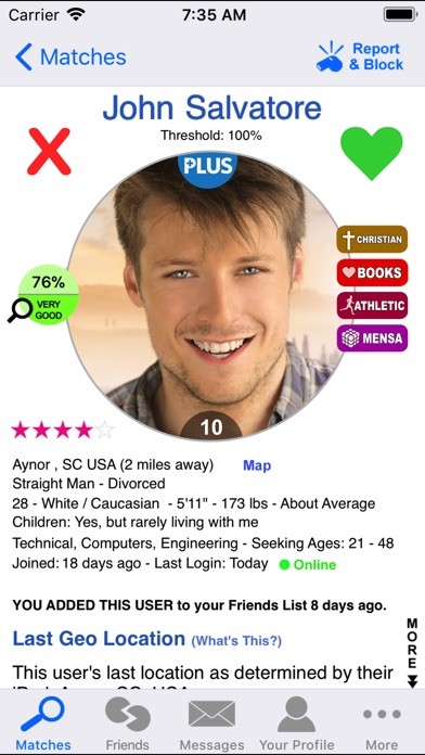 Christian Dating review screenshots