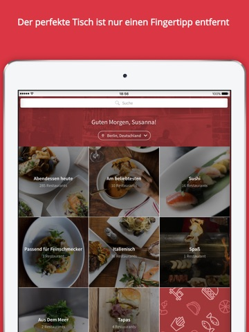 OpenTable screenshot 1