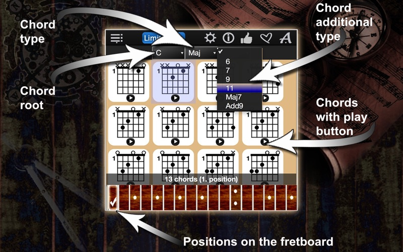 Guitar Chords Compass Lite Screenshot - 2