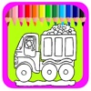 Paint Paw Book Coloring Dump Truck Pages