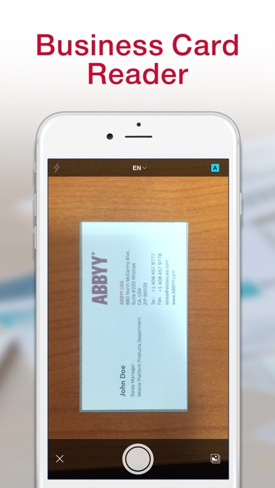 Business card reader pro iphone app appwereld for Business card apps for iphone
