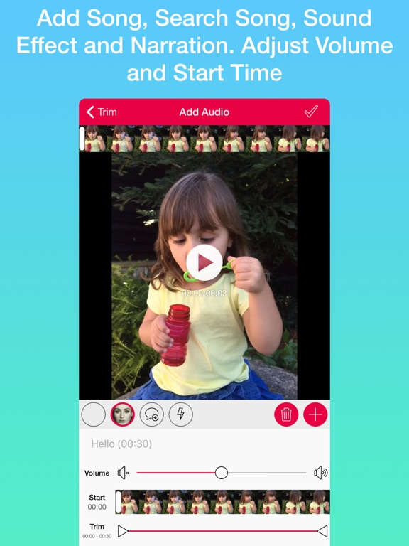 Audio Tool for Video Screenshot