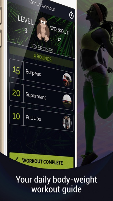 Gorilla Workout : Athletic Fitness Training on a Budget Screenshot 3