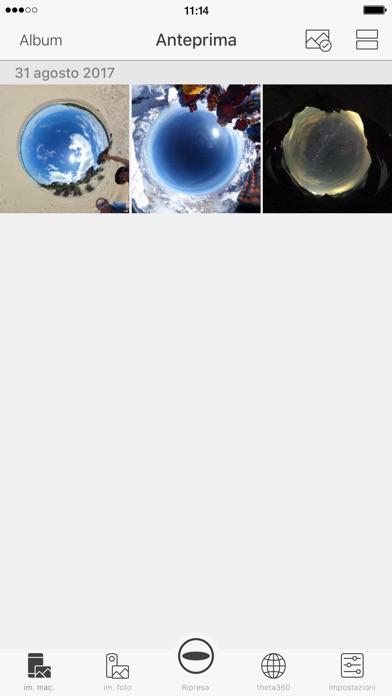 Screenshot of RICOH THETA S4