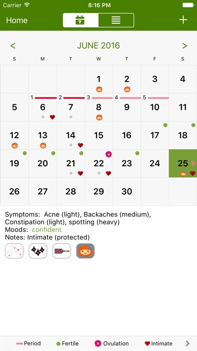 Period Tracker Deluxe screenshot 2