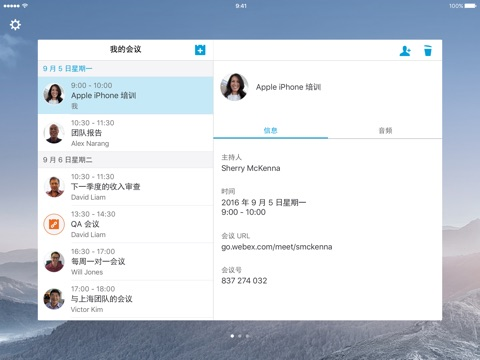 Cisco WebEx Meetings screenshot 2