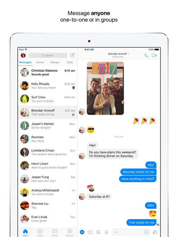 Messenger iPad