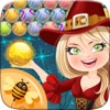 Bubble Spinner Funny Cat Pop Shooter - Addictive Puzzle Witch Action Games