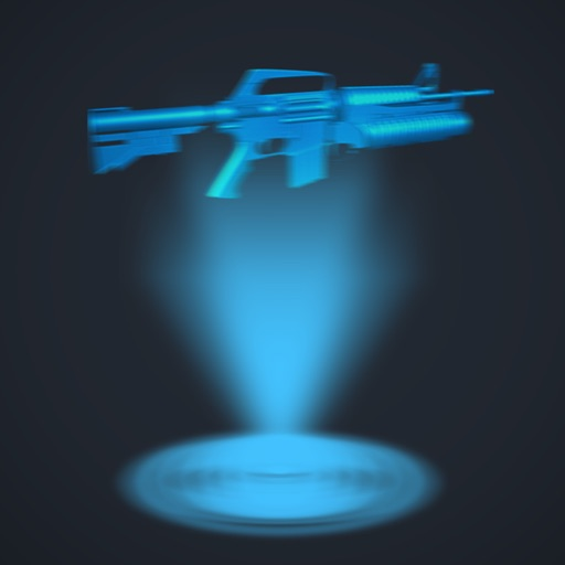 Hologram 3D Gun Simulator free iOS App