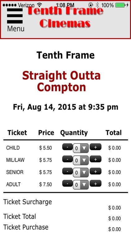 tenth frame cinema