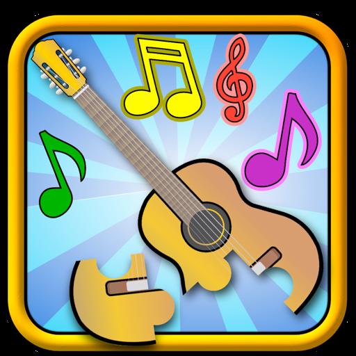 Дети музыкальные Пазлы - форму и сопоставления Детская игра для малышей и дошкольников
