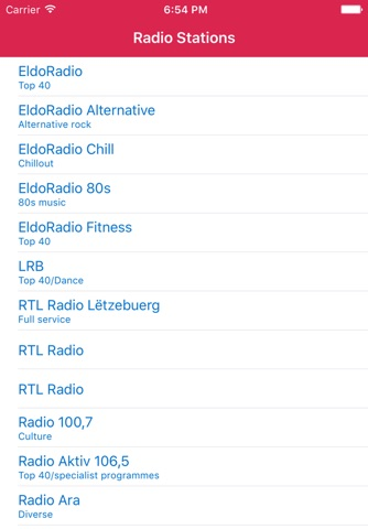 Radio Luxembourg FM - Stream and listen to live online music, news channel and musique show with Luxembourgish streaming station player screenshot 1